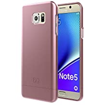 Samsung Galaxy NOTE 5 Case, Encased Ultra-thin SlimSHIELD Hybrid Shell4 Cool Colors Available) (Rose Gold)