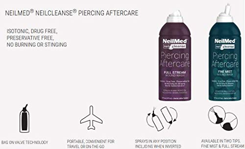 Image of NeilMed NeilCleanse Piercing Aftercare, Fine Mist, 6 Fluid Ounce