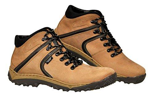 Lukpol Herren Naturlede Trekking Wandern Draussen Stiefel Beige - Modell 950