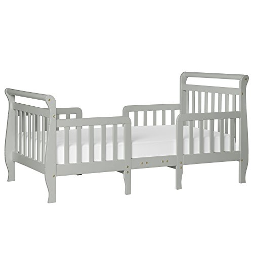 Dream On Me Emma 3 in 1 Convertible Toddler Bed, Steel Grey