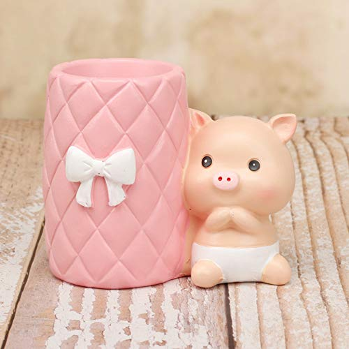 - JIAHUADE Grocery Creative Exquisite Cartoon Cartoon Stationery Gift Resin Pig Cute Pen Holder Decoration Student Gift,F