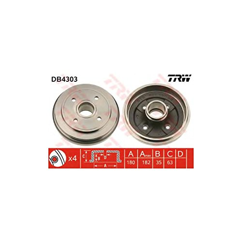 TRW DB4303 Brake Drums: