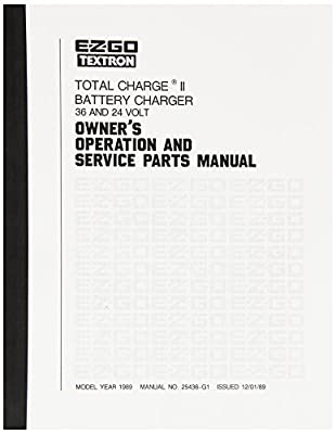 EZGO 25436G1 1989 Owner's Operation and Service Manual for Total Charge II Charger