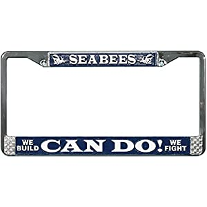 Honor Country Seabee Can Do License Plate Frame from Mitchell Proffitt