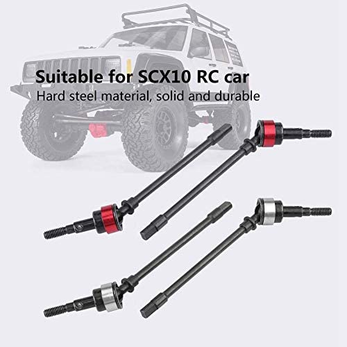 4 Pcs Hard Steel Front Axle Drive Shaft for SCX10 Remote Control Car Model Accessory Parts RC Car Drive Shaft
