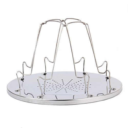 KINGZHUO 1 Pcs Stainless Steel Portable Toast Rack Camp Stove Toaster Folding Breakfast Toast Sandwich for Outdoor Camping Bivouac Picnic Outdoor Activities