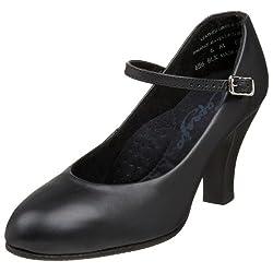 Capezio Women's Theatrical Footlight Character Shoe,Black,7 M US