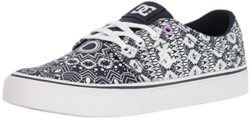 DC Women's Trase TX SE Skateboarding Shoe, Cloud/Heather Grey/Stripe, 9 B US