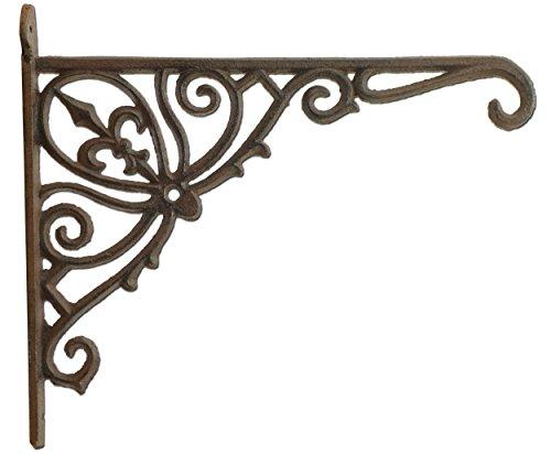 - Import Wholesales Fleur De Lis Plant Hanger Cast Iron Ornate Flower Basket Hook 12