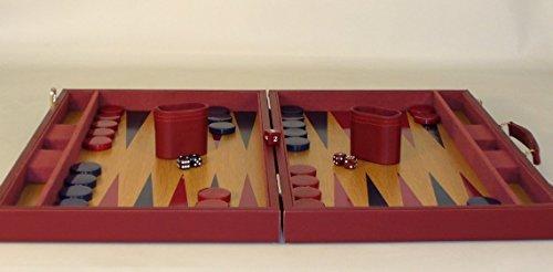 - Burgundy Tournament Backgammon by Worldwise Imports