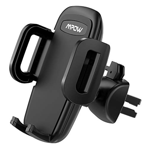 Mpow Vent Phone Holder, Car Phone Mount for Air Vent, 3-Level Adjustable Clip, Upgrade Clamp Arm, One Button Release Clamp, Rotatable Phone Holder Compatible iPhone 11 Pro Max XS XR X 8 7 6Plus Etc
