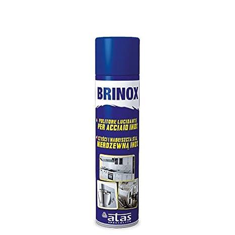Atas, (3pz) Brinox, limpiador limpiador para acero inoxidable, 600 ...