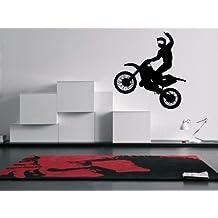 Vinyl Wall Decal Dirt Bike Art Design Sticker