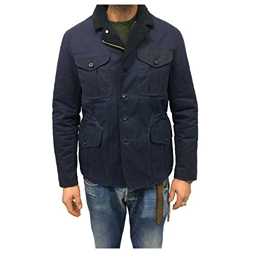 In Filson Italy Giaccone Made Blu Spalmato Uomo Cotone 100 ApqxAzw