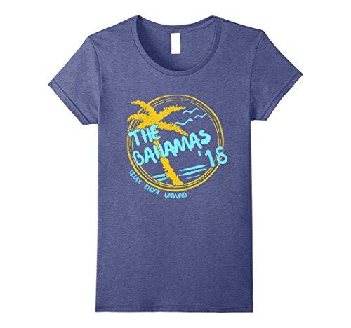 Bahama Heather (Womens The Bahamas Souvenir T-Shirt - The Bahamas Gift Apparel Medium Heather Blue)