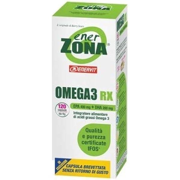 Omega 3 Rx Ener Zona 120 Cápsulas 1000 mg de Enerzona ...