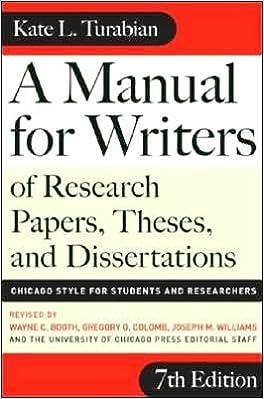 Turabian style footnotes dissertation.