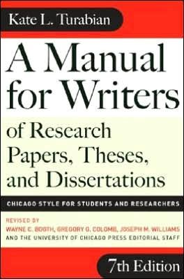 K.L.Turabian's,, Seventh Edition(A Manual for Writers of Research Papers, Theses, and Dissertations, Seventh Edition: Chicago Style for Students and Researchers (Chicago Guides to Writing, Editing, and Publishing) [Paperback] PDF