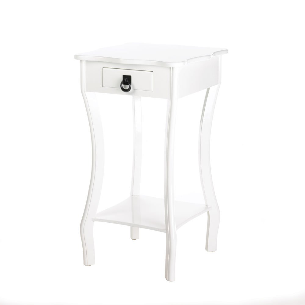 White Glossy Finish Accent Table by VGCE