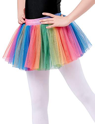 Rainbow Ballerina Costume - Ballet Tutu Dance,Fashion Tutu Ballet Skirt