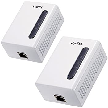 ZyXEL PLA401 200 Mbps Powerline HomePlug AV Wall-plug Adapter (Starter Kit--2 units)