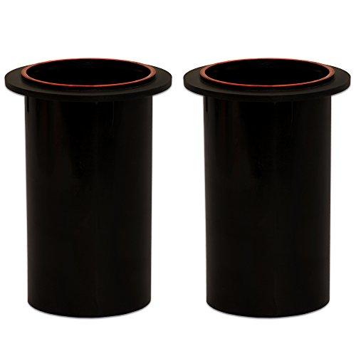 - Goldwood Speaker Box Bass Air Ports 2 Speaker Port Tubes Black (PT-306/SR-2)