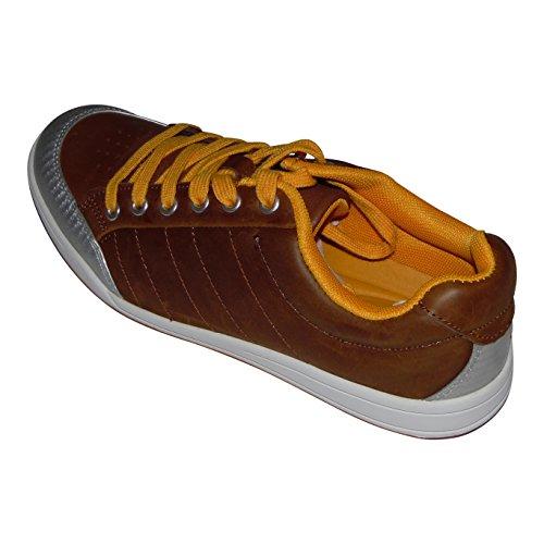 Svens-Schuh-Shop Damen Sneakers Schnürschuh Braun-Silber Eu. 41