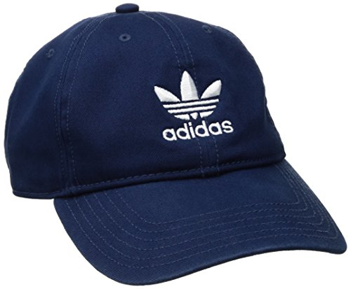 adidas Women's Originals Relaxed Adjustable Strapback Cap, Collegiate Navy/White, One Size Blue Stripe Wool Hat