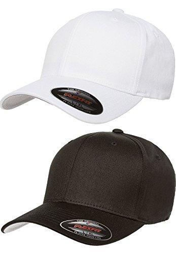 f88af0e7b41 Premium Original Flexfit V-Flexfit Cotton Twill Fitted Hat 5001 2-Pack  (S-M