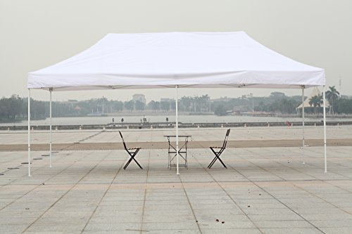 American Phoenix 10×10 10×15 10×20 [White Frame] Portable Event Canopy Tent, Canopy Tent, Party Tent Gazebo Canopy Commercial Fair Shelter Car Shelter Wedding Party Easy Pop Up (White, 10×20) For Sale