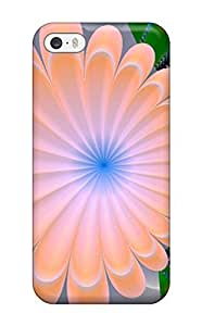 Durable Defender Case For Iphone 5/5s Tpu Cover(3d Flowers)