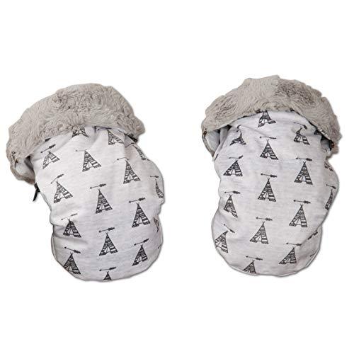 unisex Manoplas color gris Babyline Tepee