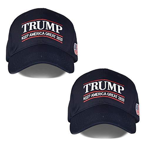 - Make America Great Again Hat [2 Packs], Keep America Great Hat, Donald Trump 2020 USA MAGA Cap Adjustable Baseball Hat (G-Navy&Navy)