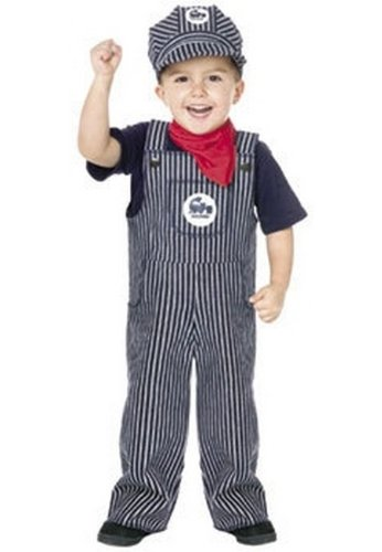 Train Engineer Costume - Toddler Costume - (24 Month to (Train Engineer Toddler Costume 2t)