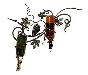 Benzara Metal Wall Wine Holder Appreciated by All
