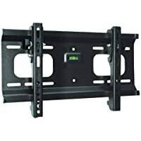 Ultra-Slim Black Adjustable Tilt/Tilting Wall Mount Bracket for LG 32LK330 32 inch LCD HDTV TV/Television - Low Profile