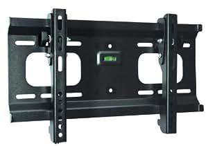 "Ultra-Slim Black Adjustable Tilt/Tilting Wall Mount Bracket for RCA L32HD35D 32"" inch LCD TV/DVD Combo HDTV TV/Television - Low Profile"