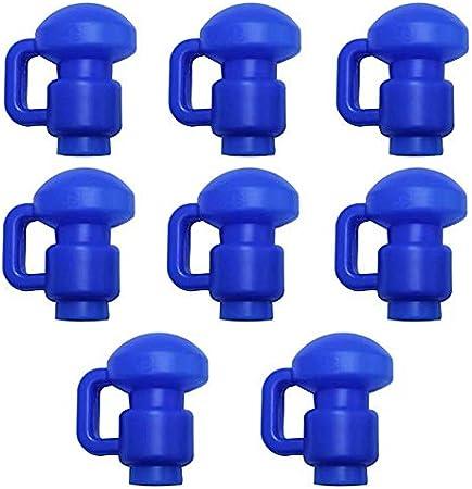 Upper Bounce Tapas para Trampolín - Rebote Superior Trampolín Polo Gorra Recinto Red Gancho (8 Unidades), Color Azul, 3,81 cm