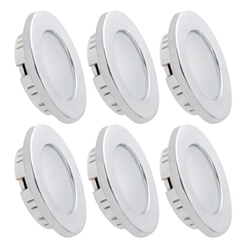 Plated Ceiling Light (Dream Lighting 2W LED Ceiling Light - Silver Shell Recessed Downlight Pack of 6)