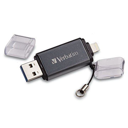 (Verbatim 64GB Store 'n' Go Dual USB 3.0 Flash Drive for Apple Lightning Devices -)