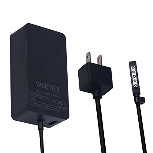 WEETEN 48W 12V 3.6A Power Supply Compatible with Microsoft Surface Pro 1/2 Surface RT Surface 2 Windows 8 Tablet Laptop AC Adapter Charger Replacement Cord, USB Port 5V 1A ()