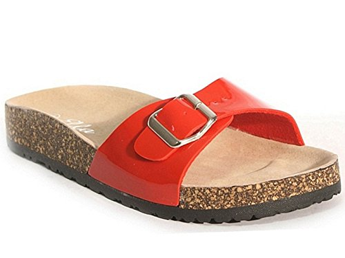SFO - Sandalias de vestir de Material Sintético para mujer Red