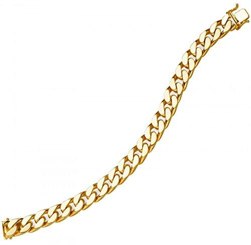 Emall supply lot de 12 mm de large bracelet gourmette or jaune 585 21 cm