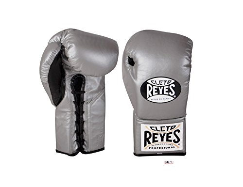 Cleto Reyes Official Lace Up Competition Boxing Gloves - 10 oz. - Titanium