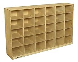 Childcraft 1506640 Storage Cubby Unit, 30 Shelves, 36\