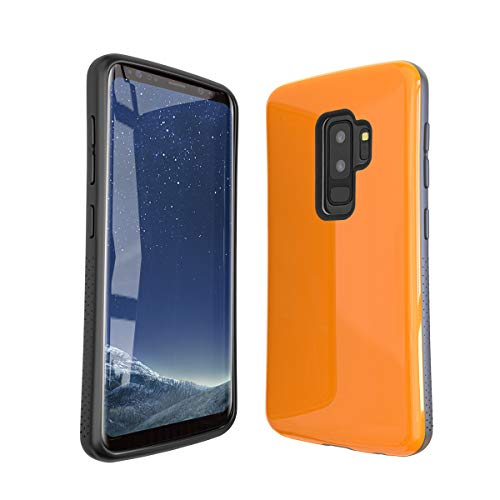 Samsung Galaxy S9 Plus Case | Premium Luxury Design | Military Grade 15ft. Drop Tested | Wireless Charging | Compatible with Samsung Galaxy S9 Plus - Orange
