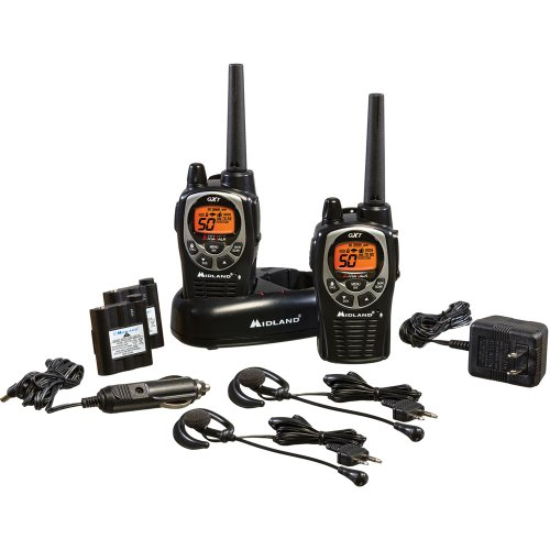 2 Sound Effects Pack - Midland - GXT1000VP4, 50 Channel GMRS Two-Way Radio - Up to 36 Mile Range Walkie Talkie, 142 Privacy Codes, Waterproof, NOAA Weather Scan + Alert (Pair Pack) (Black/Silver)