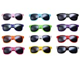 12 Packs Wholesales 80's Retro Style Neon Party Sunglasses 400 UV Protection for Party Favors,Photo Booth Prop,Goody Bag Favors,End of Year Giveaway,Birthdays Gifts for Mam & Women (12 Multicolor)
