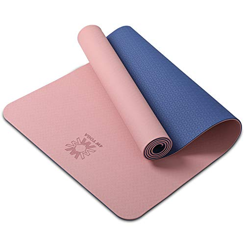 wwww Yoga Mat Extra Thick 1/4 & 1/3 Inch Non Slip Yoga Mats for Women & Men,Eco Friendly TPE Fitness Exercise Mat, Best…