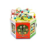 LIUFS-TOY Children's Beaded Treasure Chest Puzzle Early Learning Hexahedron Toy Gift ( Size : L )